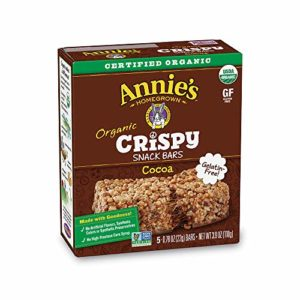 Annie's Homegrown Organic Cocoa Crispy Snack Bars, 3.9 oz