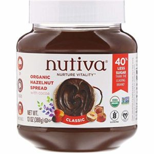 Nutiva Certified Organic, non-GMO, Vegan Hazelnut Spread with Cocoa, Chia and Flaxseed, Classic Chocolate, 13-ounce