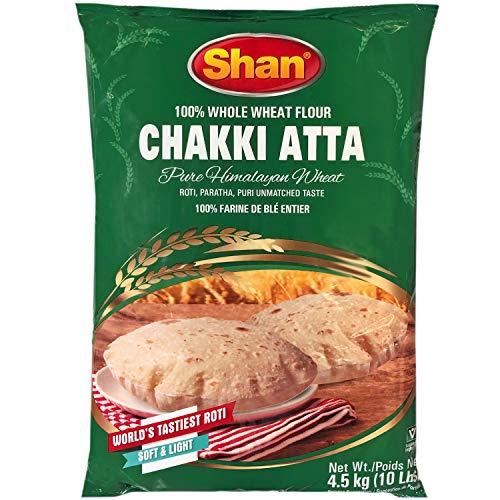 Shan – Chakki Atta Flour (100% Whole Wheat), 10 Pound