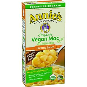 Annie's Organic Vegan Shells & Creamy Sauce Macaroni & Cheese, Non- Dairy, 12 Boxes, 6oz (Pack of 12)