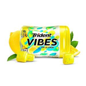 Trident Vibes Ooh La Lemon Sugar Free Chewing Gum - 4 Bottles (160 Pieces Total)