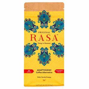 Original Rasa Caffeine-Free Herbal Coffee Alternative with Ashwagandha, Chaga + Reishi for All-Day Energy + Focus - Organic, Adaptogens, Vegan, Keto, Whole30, Gluten Free, 8 Ounce