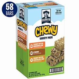 Quaker Chewy Granola Bars, Marshmallow Lovers Variety Pack, 58 Bars
