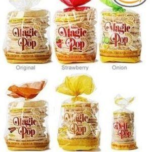 Kim's Magic Pop Freshly Popped Rice Cake Combo Pack | Keto, Vegan | 6 Pack | Low Carb, Sugar Free, Fat Free, Natural, Multigrain Korean Snack | Easy Bread, Chip, Cracker Replacement | 15 Cal Per Servi