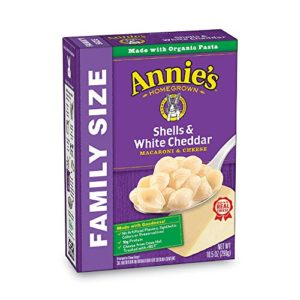 Annie's Family Size Shells & White Cheddar Macaroni & Cheese, 10.5 Ounce, Pack of 6