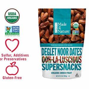 Made In Nature Organic Deglet Noor Dates, 32oz - Non-GMO Dried Fruit Super Snack