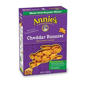Annie's Cheddar Bunnies, Baked Snack Crackers, 7.5 oz (Pack of 12)
