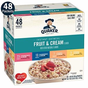 Quaker Instant Oatmeal, Fruit & Cream, Individual Packets (48 Pack)