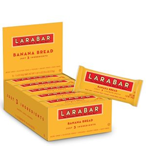 LARABAR, Fruit & Nut Bar, Banana Bread, Gluten Free, Vegan, Whole 30 Compliant, 1.6 oz Bars (16 Count)