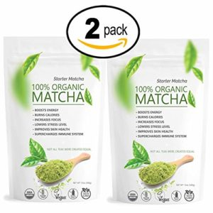 Starter Matcha Set | 2x 12oz | USDA Organic | Non-GMO Certified | Vegan and Gluten-Free | Pure Matcha Green Tea Powder | Grassy Flavor | Mild Natural Bitterness | Autumn-Green color | Matcha Outlet