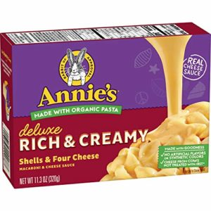 Annie's Deluxe Rich & Creamy Shells & Four Macaroni & Cheese Sauce, 11.3 oz (Pack of 12), (Pack of 1)