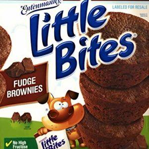 Entenmann's   Little Bites   Fudge Brownies   20 Pouches 80 Muffins   4 Muffins in each Pouch   Delicious   Yummy   Tasty   Net WT 2 LB 7 oz (1.11 Kg)   1 Box  