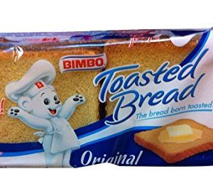 Bimbo Pan Tostado - Pan Blanco - Toasted Bread - 14 Slices 7.05 Oz [Pack of 3]