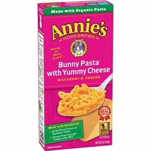 Annie's Bunny Shape Pasta & Yummy Cheese Macaroni & Cheese, 6 Ounce, Pack of 12