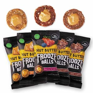 Frooze Balls Peanut Butter Filled Energy Balls, Variety Pack (Pack of 5) | Plant-Based , Whole Food, Gluten-Free, Dairy Free, Vegan and Non GMO