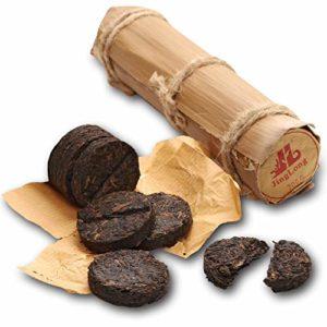 Pu-erh Tea in Bamboo Leaf Tube (80 Cups) Ripe Puerh Tea (7.1 Ounce)