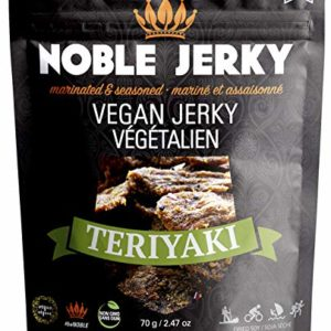Noble Jerky Vegan Jerky, Teriyaki, 2.47 Ounce