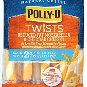 Polly-O Twists, Reduced Fat Mozzarella & Cheddar Cheese Snacks,, 9 oz