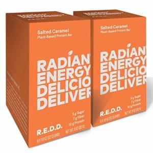 REDD - 8 Bar Variety Pack - Plant Based Protein Bar - Chocolate, Oatmeal, Peanut Butter, Mint, Salted Caramel - Gluten Free, Vegan, Low Sugar, High Fiber, Probiotics
