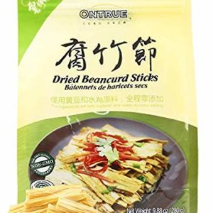 ONTRUE Dried Beancurd Sticks, Asian Tofu, Good Source Of Protein, Non-GMO, Vegan, Great Gourmet Gift, 9.88 Oz