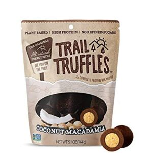 Trail Truffles - Vegan, Paleo Friendly Superfood Protein Balls - Healthy, Plant Based, Gluten Free, Dairy Free, Soy Free, Non-GMO Snacks (Chocolate Hazelnut, 1 Pack)