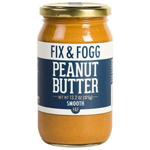 Gourmet Smooth Peanut Butter. Handmade in New Zealand. All Natural and Non-GMO from Fix & Fogg. Naturally Textured, our take on Creamy PB. Vegan, Keto Friendly, in Beautiful Gift Packaging (13.2 oz)