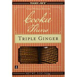 Trader Joe's Cookie Thins Triple Ginger 9 oz