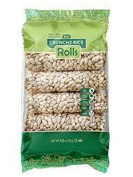 Kim's Magic Pop Crunch Rolls Rice Flavored Snack - Gluten Free, Vegan, All Natural (1 Pack of 8 Rolls)