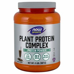 Now Sports Nutrition, Plant Protein Complex Powder, Creamy Vanilla, 2-Pound