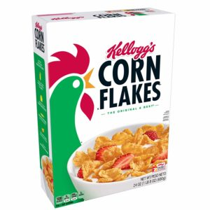 Kellogg's Corn Flakes, Breakfast Cereal, Original, Fat-Free, 24 oz Box