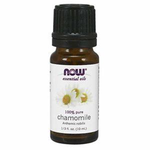 Now Essential Oils, Chamomile Oil, Delightful Aromatherapy Scent, Steam Distilled, 100% Pure, Vegan, 10-ml