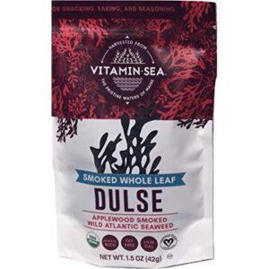 VITAMINSEA Organic Dulse Whole Leaf - 1.5 oz / 42.5 G Maine Coast Seaweed - USDA & Vegan Certified - Kosher - Keto or Paleo Diets - Atlantic Ocean (DWL1.5)