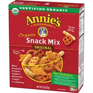 Annie's Organic Snack Mix, Assorted Crackers and Pretzels, 9 oz Box (Pack of 4)