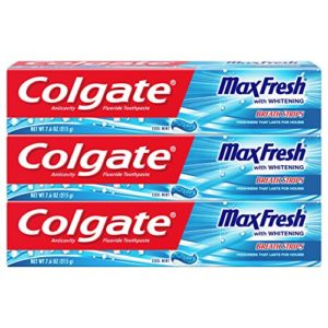 Colgate Max Fresh Toothpaste with Breath Strips, Cool Mint - 7.6 ounce, 3 Count