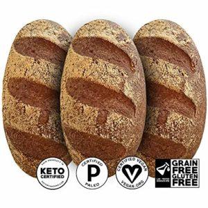 Yez! Artisan Keto Bread - Certified Keto, Paleo, Vegan - Low carb, Gluten free, Wheat free, Grain free, Soy free, All Natural, Clean Ketogenenic Food (loaf)