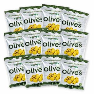 Veggicopia Olives, Tasty Green Pitted Olives - Keto - 1.05 Ounce Snack Bags (Pack of 12)