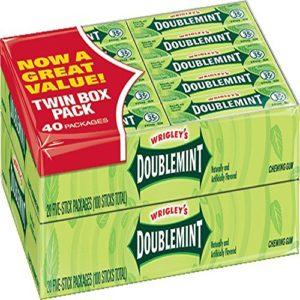 Wrigley's Doublemint Gum 4/20 Pack Boxes 5 Pieces Per Pack Total 400 Pieces