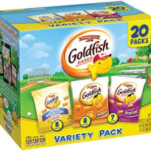 Pepperidge Farm, Goldfish, Crackers, Sweet & Savory, 19.5 oz, Variety Pack, Box, Snack Pack, 20Count