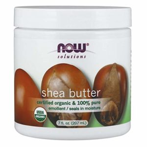 NOW Solutions, Organic Shea Butter, Certified Organic and 100% Pure, Emollient, Seals in Moisture, 7-Ounce
