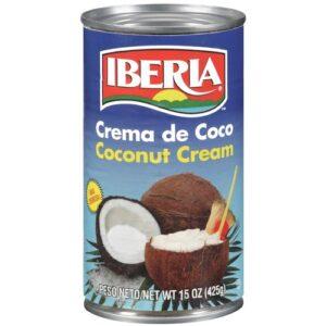 Iberia Coconut Cream,13.2 fl. oz., Ideal For Use in Drinks & Desserts, Non-Dairy Alternative, Premium Coconut Cream for Vegan and Dairy Free Cakes.