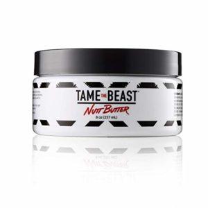 Sandalwood Shave Cream for Men - Green Tea, Vitamins B E, Black Pepper Oil, Natural Organic Aloe, Shea Butter, Guarana - Shaving Cream for Brush & Fingers Large 8 oz Bowl Jar - Tame the Beast