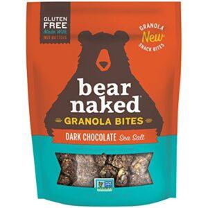 Bear Naked Dark Chocolate Sea Salt Granola Bites - Gluten Free | Non-GMO | Kosher | Vegan - 7.2 Oz