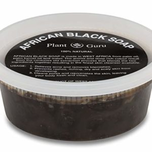 Raw African Black Soap Paste 8 oz. From Ghana - 100% Natural Acne Treatment, Aids Against Eczema & Psoriasis, Dry Skin, Scar Removal, Pimples and Blackhead, Face & Body Wash