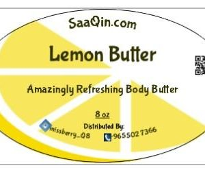 Lemon Body Butter Pure, Refined and Raw by HalalEveryday 8 Oz - Made with Lemon Essential oil - Great for making soap, lotion, cream - amazing moisturizer