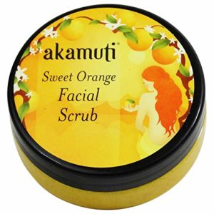 AKAMUTI - Sweet Orange Facial Scrub Moisturizing Scrub for Dry Skin - Ideal Also for Dull complexions - Rejuvenating & Refreshing - Removes Dead Skin Cells - Vegan Organic