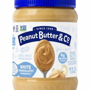 Peanut Butter & Co. White Chocolatey Wonderful Peanut Butter, Non-GMO Project Verified, Gluten Free, Vegan, 16 Ounce Jar