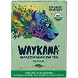 WAYKANA Original Green Guayusa Tea Bags (16 count) | Healthy Coffee Alternative | Boost Energy, Performance & Mental Clarity | Antioxidant Tea | Naturally Sweet No bitterness | Feel the Jaguar Energy!