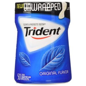 Trident Sugar Free Gum (Original, 50-Piece, 6-Pack)