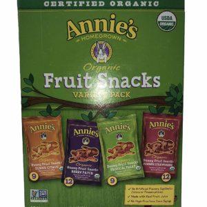 Anni's Homegrown Organic Vegan Fruit Snacks Variety Pack, 42 Count, 2LBS 2OZ (946G)