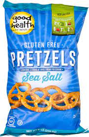 Good Health Gluten Free Pretzels, Sea Salt, 8 oz. Bag, 12 Pack - Gluten Free, Crunchy Pretzels, Great for Lunches or Snacking on the Go